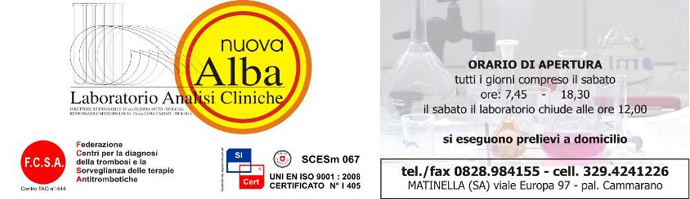 Laboratorio analisi cliniche Nuova Alba Matinella(Salerno)